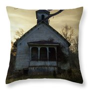 Old Church At Sunset Throw Pillow