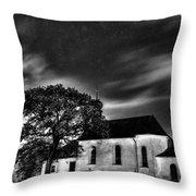 Old Church B/w  Throw Pillow