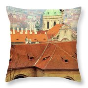Old Church In Prague Throw Pillow
