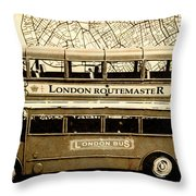 Old City Bus Tour Throw Pillow