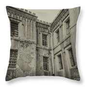 Old City Jail Chs Throw Pillow