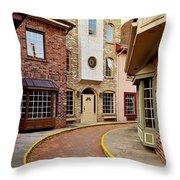 Old City Street Throw Pillow