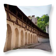 Old City Wall In St Alban Basel Switzerland Throw Pillow