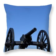 Old Civil War Cannon Throw Pillow