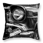 Old Classic Car In Black And White Throw Pillow