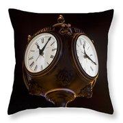 Old Clock Throw Pillow