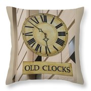 Old Clocks Throw Pillow