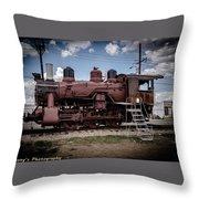 Old Clovis Train Throw Pillow