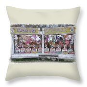 Old Clowns And Soft Toys By Kaye Menner Throw Pillow