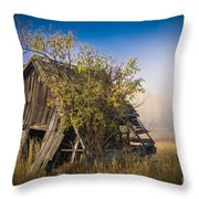 Old Coal Miner's Shack Throw Pillow