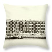 Old Coffee And Cotton Warehouse Throw Pillow