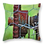 Old Cog Wheel Throw Pillow