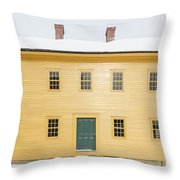Old Colonial Era Period House In Winter Throw Pillow