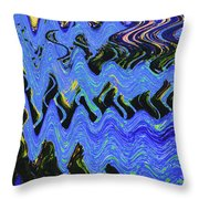 Old Columbia River Water Front Abstract Throw Pillow