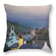 Old Copper Mining Town Throw Pillow