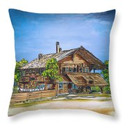 Old Cottage Throw Pillow