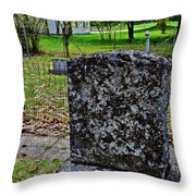 Old Country Cemetery Throw Pillow