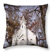 Old Country Church In Alabama Throw Pillow