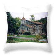 Old Country Church  Throw Pillow