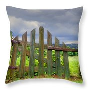 Old Country Gate Throw Pillow