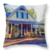 Old Country Store Throw Pillow