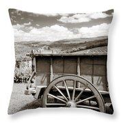 Old Country Wagon Throw Pillow