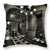 Old Courthouse Entryway Throw Pillow