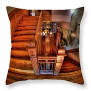 Old Courthouse Stairway Throw Pillow