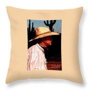 Old Cowpoke Throw Pillow