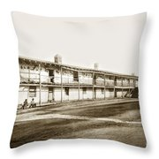 Old Cuartel. Mexican Soldiers Barracks Monterey Circa 1885 Throw Pillow