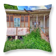 Old Curepe House Throw Pillow