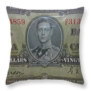 Old Currency  Throw Pillow