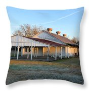 Old Dairy Of Darien Throw Pillow