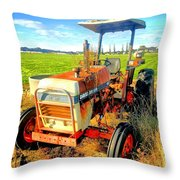 Old David Brown Tractor  Throw Pillow