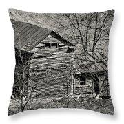 Old Deserted Farmhouse 3 Throw Pillow