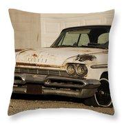 Old Desoto In Sepia Throw Pillow