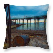 Old Dock Throw Pillow