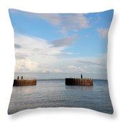 Old Docks Of Gasparilla Throw Pillow