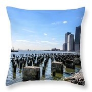 Old Docks Throw Pillow
