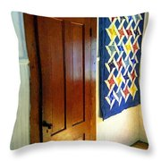 Old Door - New Quilt Throw Pillow