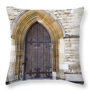 Old Door And Window York Throw Pillow