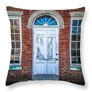 Old Door And Windows Throw Pillow