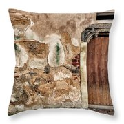 Old Door. Throw Pillow