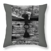 Old Door Latch Throw Pillow