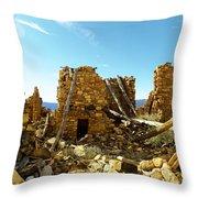 Old Doors Kinishba Ruins Throw Pillow