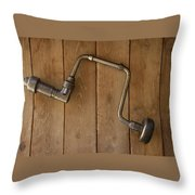 Old Drill Throw Pillow