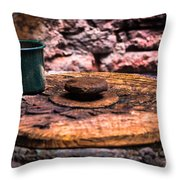 Old Drinking Cup Throw Pillow