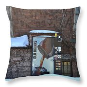 Old Drinks Throw Pillow