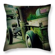 Old Drive Throw Pillow by Perry Webster
