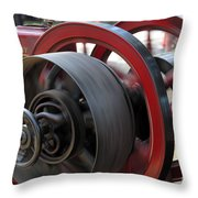 Old Economy Gas Engine On Display At A County Fair Throw Pillow